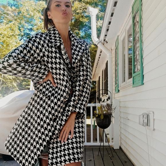 🔥SALE🏁 Kate Spade Wool Houndstooth Coat